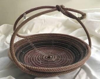 A13 rose Lariat Rope Basket