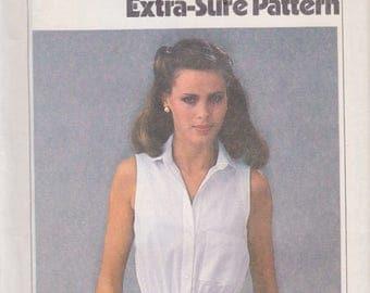 Simplicity 8972 Misses' Dress and Sash Sizes 8, 10, 12 Vintage UNCUT Pattern 1979 Easy Pattern