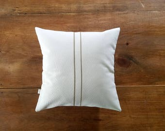 CLEARANCE - sale - grainsack pillow - grain sack - beige - stripe - 12x12 - farmhouse - rustic