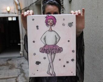 Tableau aux Crayons Aquarellables Ballerine du Dimanche