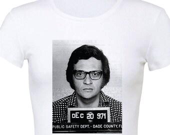 Larry King's mugshot 1971 Women's Slim Fit T-Shirt