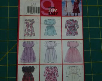 Girls Party Flower Girl Dresses with Sleeve and Bodice options 6 7 8 Butterick 5225