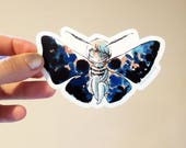 Vinyl Sticker - Moth Girl - bittersweet entomology