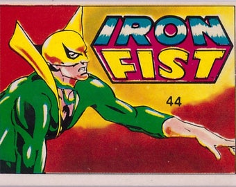 Rare 1980 Marvel Super Heroes Iron Fist 44 Sticker