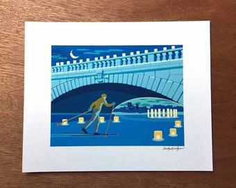 Luminary Loppet Print, Minneapolis, Minnesota