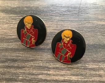 The Vintage David Bowie Enamel Pin Set Duo