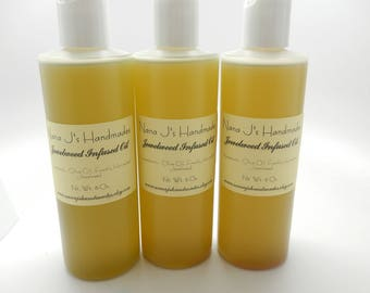 Organic Jewel Weed Infused Oil-Poison Ivy Treatment-Poison Sumac-Poison Oak jewelweed salve- jewel weed-Soapmaking-tincture-16 oz.
