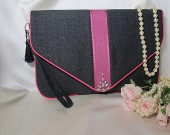 Clutch , Black clutch , Black purse , Pink clutch , Evening clutch , Envelope clutch , Wristlet strap clutch