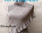 PDF Knitting Pattern Jenny's Shawl Outlander Inspired Ruffle Shawl