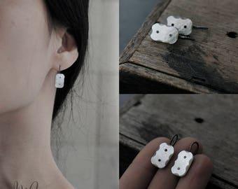 Bevelled Elegance oxidised earrings