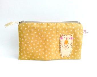 cat pencil case, zipper pencil pouch, cosmetic pouch, gift for cat lovers, cute pencil case, school supplies, pencil case, pencil bag, purse