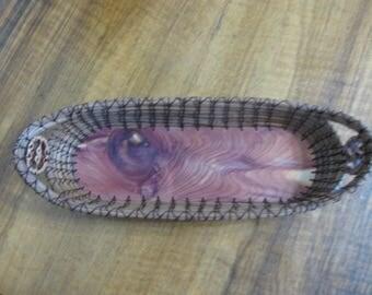 Pine Needle Cracker Basket with Knotty Red Cedar Bottom