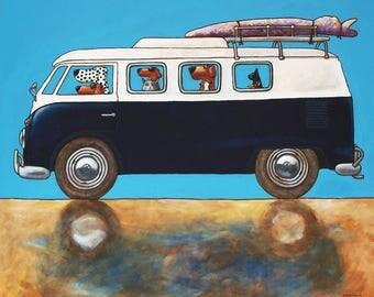 "142 Surfdudes II  – print 48x48cm/19x19"""