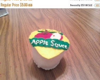 Flash Sale Felt Food Applesauce - play kitchen - pretend food - toy for boys and girls - pretend groceries - fruit - apple - make believe