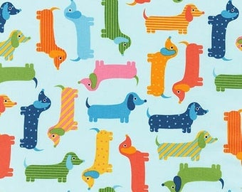 Remnant end of bolt 9 inches Urban Zoologie Dogs Spring Dachshunds Robert Kaufman Fabric