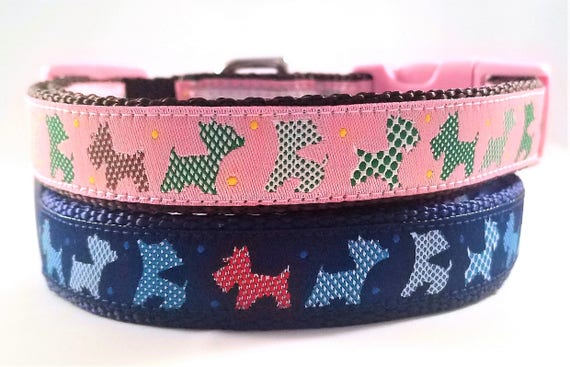 Little Terrier Dog Collar / Handmade / Adjustable / Terrier / Westie / Yorkshire Terrier / West highland terrier / Carin terrier / Pet Lover