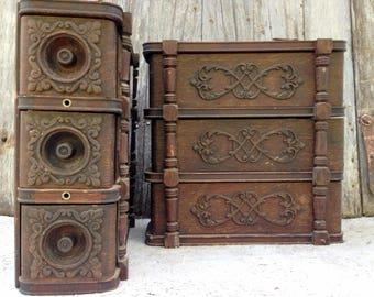 Vintage Franklin Treadle Sewing Machine Drawers Frames Antique Ornate Embossed