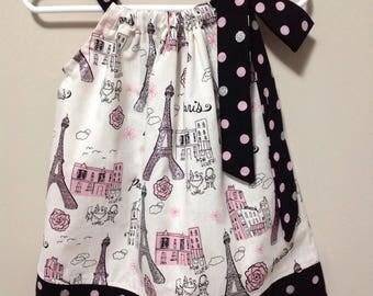 Ready to Ship!  Size 18 months Paris Pillowcase Dress