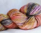 SEDONA (Speckled Stellina)hand dyed super wash merino single sock (100 grams) 400 yds #2