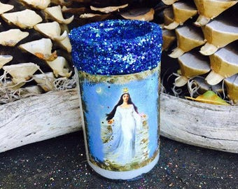 Rita's Sea, Heaven & Moon Gooddess Yemaya 2 Day Ritual Candle - Ebb en Flow