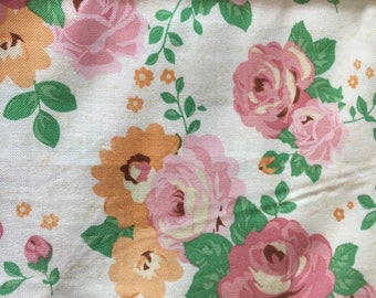 Rose  fabric remnant