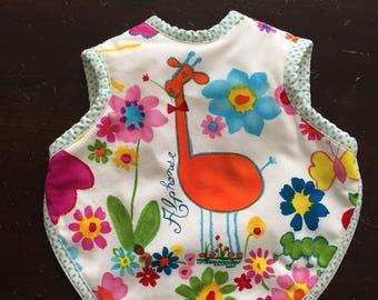 Bibs, baby bibs, bapron, toddler bib, tie bib, waterproof bib, giraffe bib, baby gift, unique baby gift, girl bib, boy bib, 6-18 months