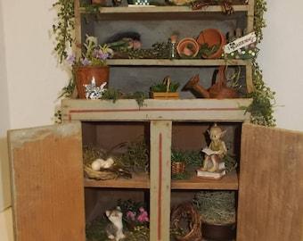 OOAK Fairy Garden Display House Potting Shed Miniature Fantasy