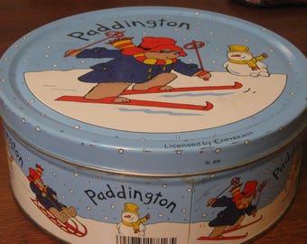 paddington bear cookie tin 1996