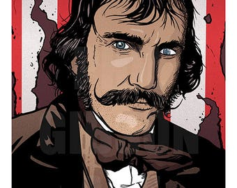 "Original ""Native"" Bill the Butcher Gangs of New York 11"" x 17"" Art Print Film Movie Poster"