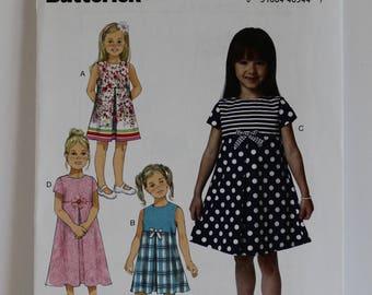 Toddler And Little Girls Dresses Butterick 6314