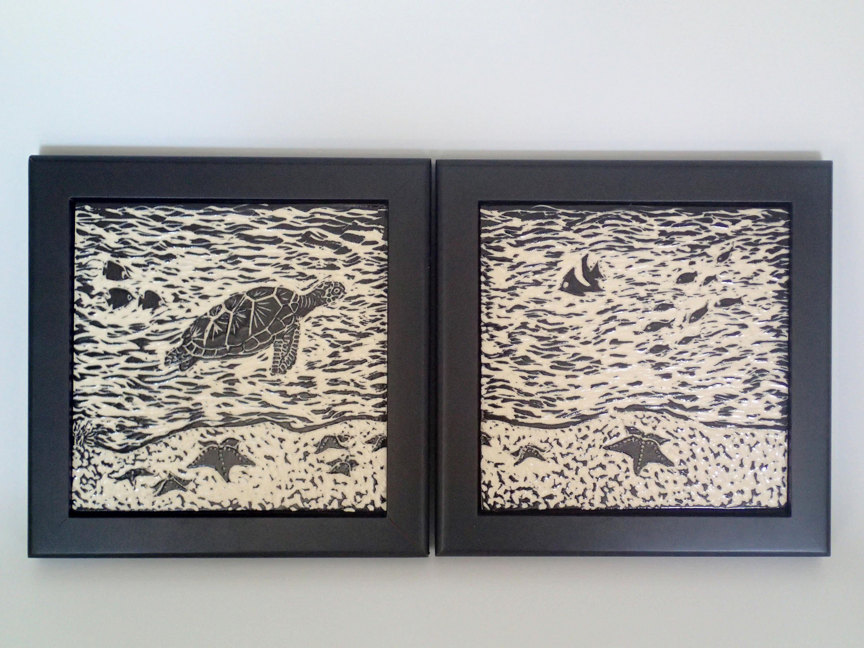 Beach house art framed ceramic tiles art tiles diptych wall art beach house art framed ceramic tiles art tiles diptych wall art black dailygadgetfo Choice Image