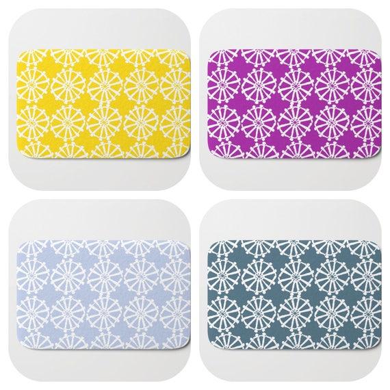 Bath Mat - Purple Bath Mat - Teal Bath Mat - Bath Rug - Yellow Shower Mat - Wheel Rug - Periwinkle Blue Rug - Hyacinth Memory Foam Mat