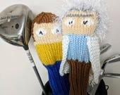Rick and Morty, Golf Club Cover, Golf Headcover, Golf Head Cover, Knit Golf Club Cover, Knitted Golf Headcovers, Gifts For Men