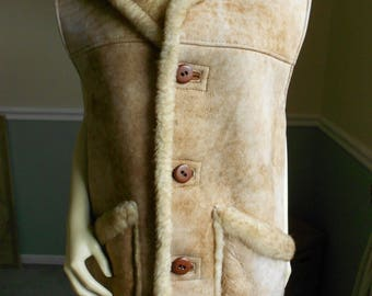 Shearling Vest / Size Large