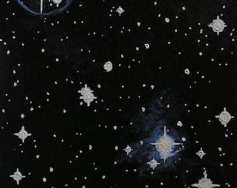 Star Light, Star Bright, Realistic Original Oil Painting