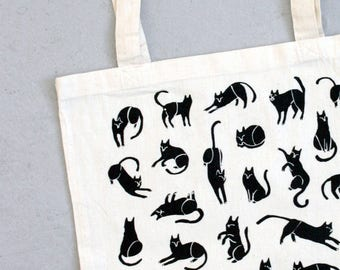 Pounce of Cats Tote (natural)
