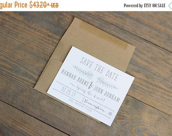 Rustic Save the Date, vintage save the date, save the date, kraft save the date, save the date, craft save the date