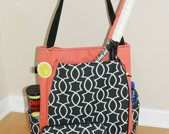 Large Tennis Bag and Accessory Bag-Made to Order !