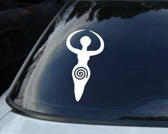 Custom Goddess Wiccan Pagan Vinyl Car and Wall DECALS Wholesale