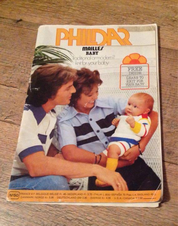 Vintage Phildar Baby Knitting Pattern Book Vintage Phildar Book 50