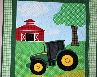 SALE My John Deere Tractor Quilt Crib/Lap/Wall  LAST ONE