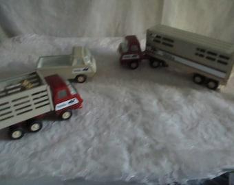 Tonka Western Horse set with horses Truck Semi Trailer pickup