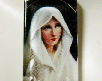 Virgin Mary pendant with chain - GP01-322
