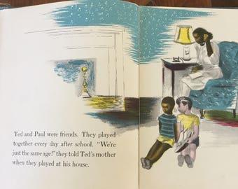 Two is a Team by Lorraine and Jerrold Beim, Illustrator Ernest Crichlow, Harlem Renaissance, Vintage Childrens Book, 1940s, Scarce Book