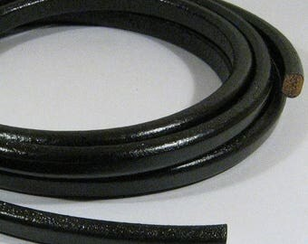 Regaliz Licorice Leather - Black - R6 - Choose Your Length