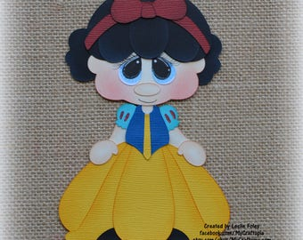 Snow White Disney Princess Premade Scrapbooking Embellishment Paper Piecing