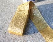 Vintage Gold Metallic Trim Embroidered Destash Lot Sewing Crafting Yardage