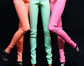 The Ultimate Skinny Jeans NEON for Fashion Royalty Dolls - Denim Pants by HazelStreetDezigns