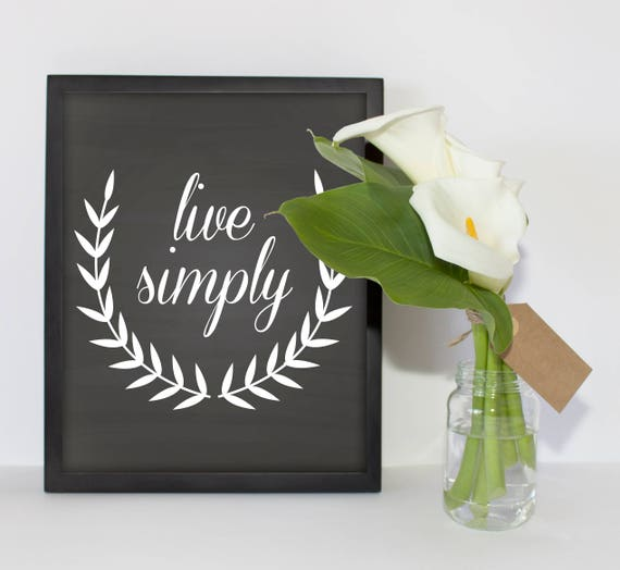 PRINTABLE Quote, Instant Download, Live Simply, Quote Print, Bedroom ...