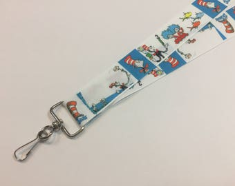 The Cat in the Hat from Dr Seuss ID Lanyard or clip to your cell phone or keys